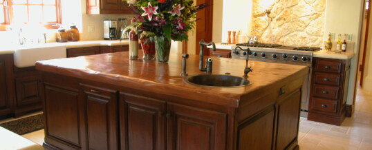 Kitchen island in Rancho Santa Fe