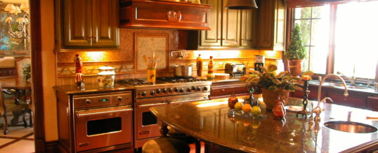 Small kitchen in Rancho Santa Fe
