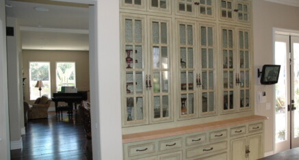 Dining White and Glass Armoire