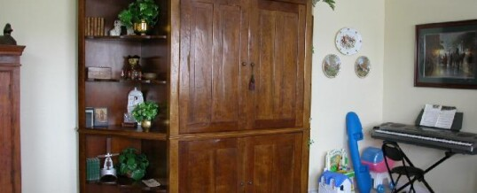 Rustic armoire in Hollywood Hills
