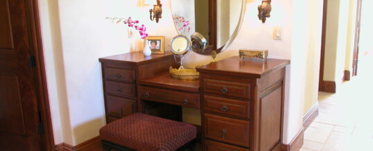 Makeup table in master bath