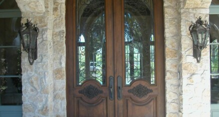 Front door in Rancho Santa Fe