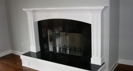 Contemporary White/Black Fireplace