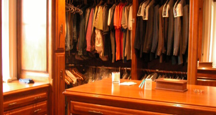 Walk-in closet in Santa Monica – his side