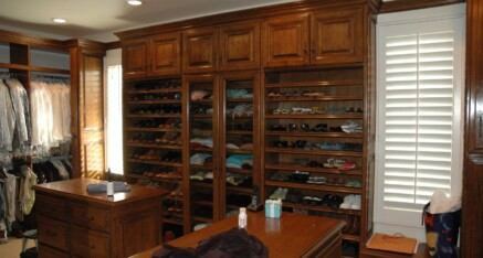 Walk-in closet in Santa Monica – her side