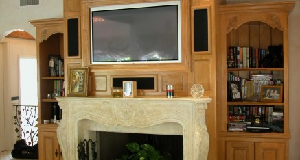 Bedroom Fireplace and Entertainment Center