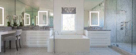 White master bath in Beverly Hills